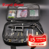1 Set Fly Fishing Fly Tying Tools Kit In Portable Pack Bag Including Vise Bobbin Hackle