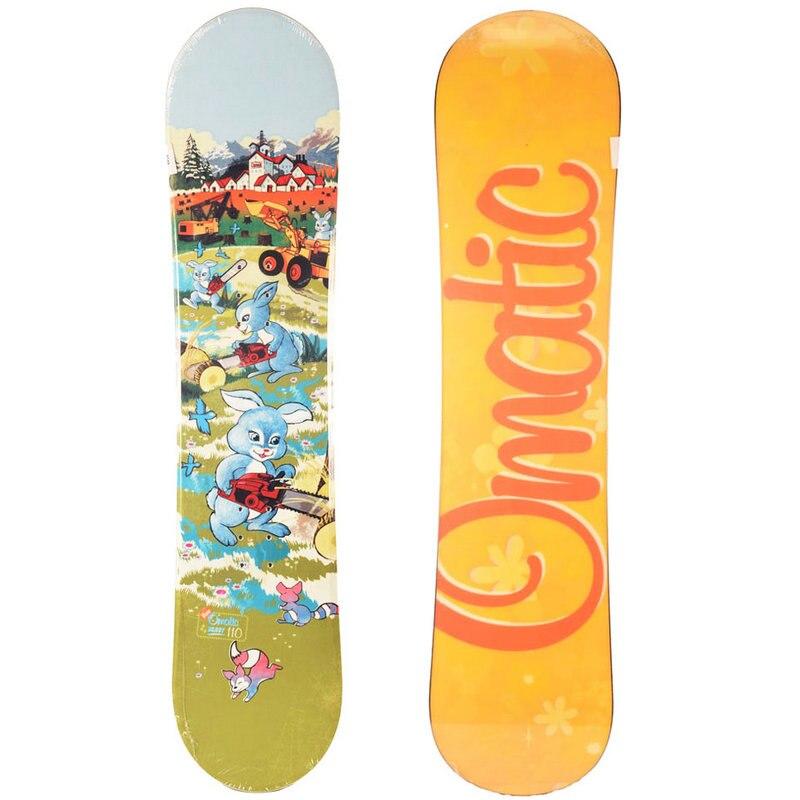 2017 hiver ski planche pont 1 pièces snowboard deck skis professionnel enfant planche unique pont enfants 110 cm snowboard
