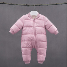 Бибикола новорожденный зимняя одежда для маленьких девочек мальчиков комбинезон Одежда для новорожденных bebe комбинезон толстые теплые зимние комплекты для малышей