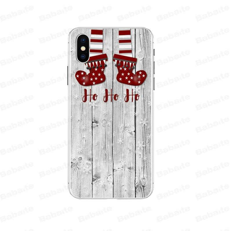 Babaite Hoạt Hình Dễ Thương Ông Già Noel Bông Nai Sừng Tấm Coque Vỏ Ốp Lưng Điện Thoại cho Iphone X XS MAX 6 6S 7 7plus 8 8Plus 5 5S XR Bao
