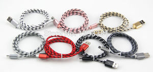 Image 5 - 100pcs 1M 2M 3M New High Speed Metal USB braided Data Fast Charger Cable Micro USB 8 pin Type C Charging Cord For Mobile Phones