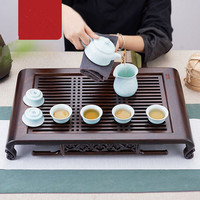 53.4*32.4*8.4cm Black Sandalwood Tea Tray Boutique Home Office Chinese Kung Fu Tea Accessories Table Decoration Free Shipping