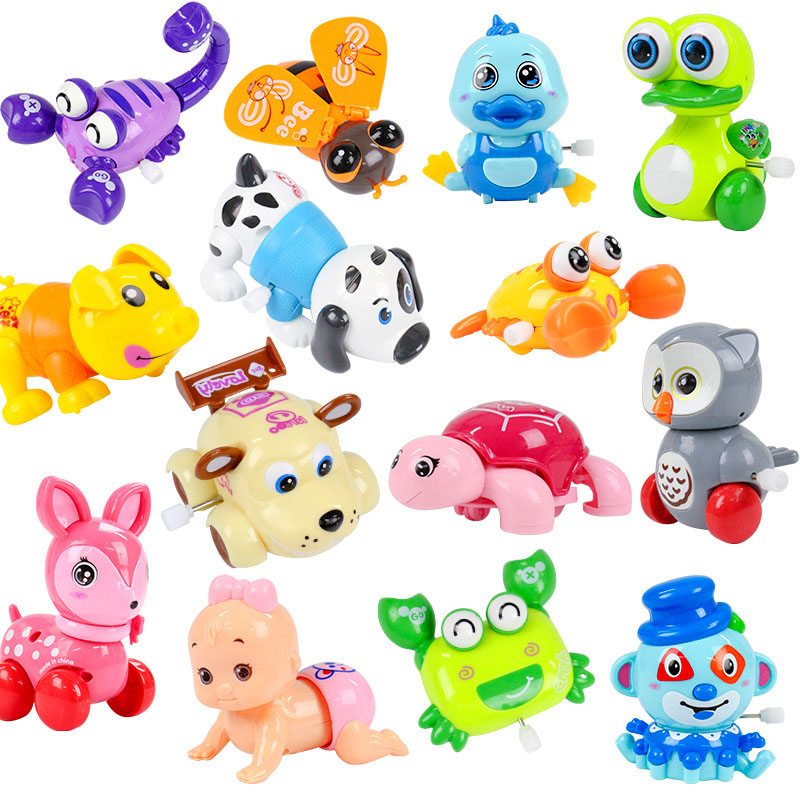 Mini Cute Funny Colorful Clockwork Toy Baby Wind Up Toys Cartoon Animal Crawling Educati ...