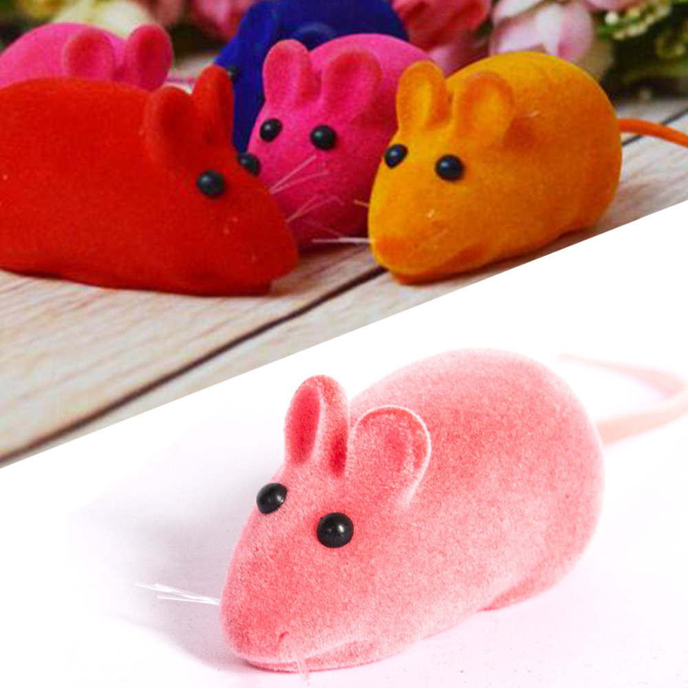 New Style Lovely Squeaky Simulation Mouse Sound Toy Dog Cat Kitten Chew Toys Random Color