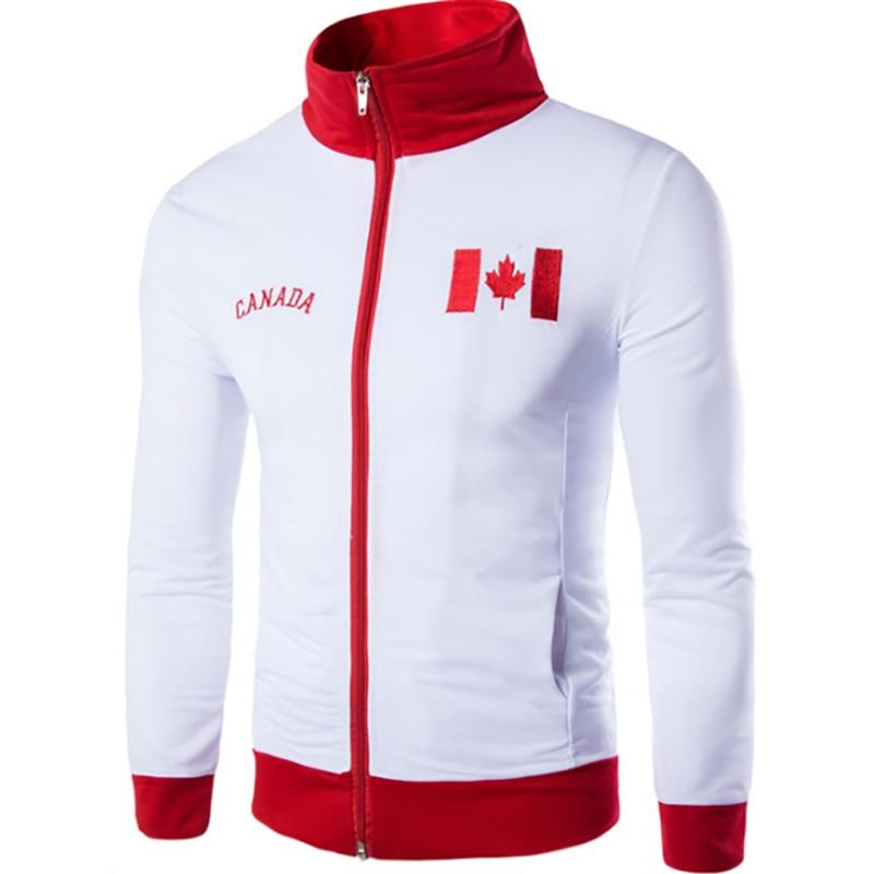 New Men's Sports Sweatshirt Flag Embroidery Design Fashion Sports Jacket