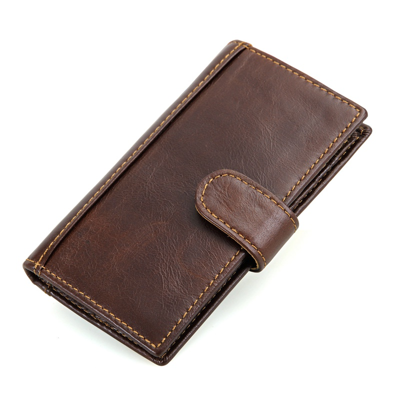 JMD Guarantee Real Cow Leather RFID Blocking Leather Wallet Men's Short Dollars Wallets Card Holder R-8120Q