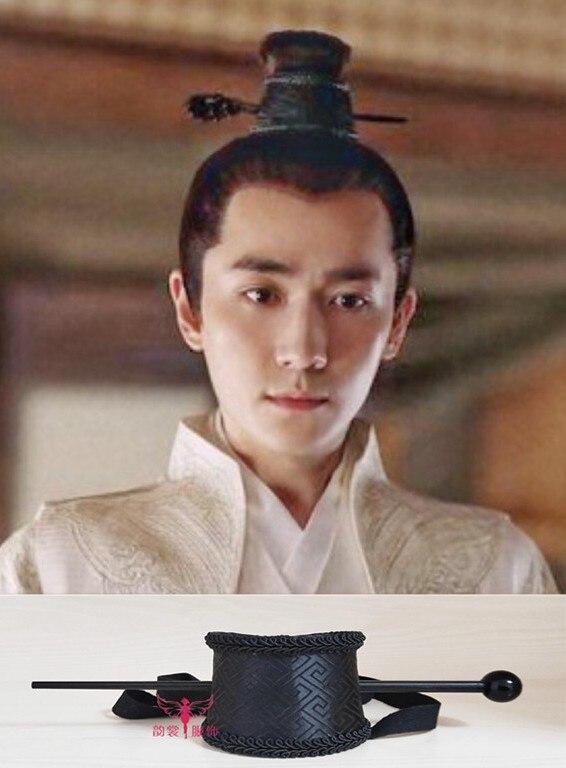 3 Designs Einfache Schwarz Haar Tiara Männlichen Hut Für Scholar Prinz Täglichen Kopfstück Zhu Yilong Design Für Tv Spielen Legend Von Minglan