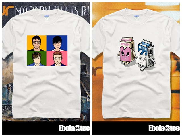 8c12c88a3 music / band Blur short-sleeve T-shirt Rock unisex fashion summer spring  basic shirt 100% cotton