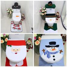 Noel tuvalet klozet kapağı kardan adam klozet kapak noel süslemeleri ev için noel doğum feliz navidad banyo dekorasyon