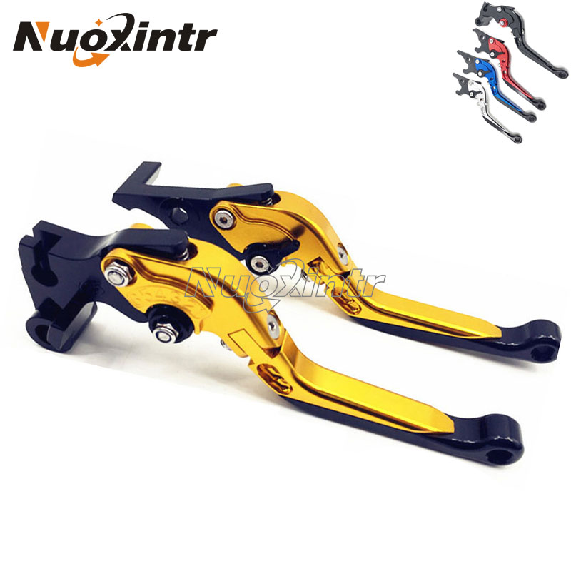 Adjustable Motorcycle CNC Aluminum Folding Extendable Motorbike Brake Clutch Levers For Yamaha YZF R3 2015-16 5 Color for yamaha yzf r15 2013 2016 aluminum cnc adjustable extending brake clutch lever blue
