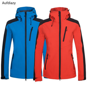 Aufdiazy Women's Winter Softshell Fleece Jackets Warm Outdoor Sportswear Hiking Trekking Camping Skiing Female Windbreaker JW013