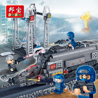 BanBao Police Educational Building Blocks Toy For Children Gifts City Hero Weapon Stickers Compatible Legoe