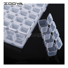hot deal buy zooya 28 slots adjustable plastic storage box storage box box for jewelry diamond embroidery craft bead pill storage tool t004