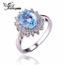 Кейт уильям диана halo топаз jewelrypalace голубой обручальное природный принцесса стерлингового
