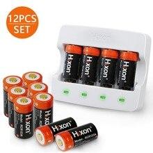 Batterie 12 pièces et chargeur 700mAh RCR123A 3.7V lithium ion 16340 batterie rechargeable pour caméra Arlo HD et Reolink argus par Hixon