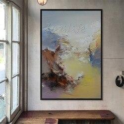 Ręcznie malowane duża nowoczesne streszczenie krajobraz obraz olejny na płótnie ściany sztuka dekoracyjna zdjęcia do salonu cuadro home decoracion