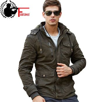 M-4XL 2019 Winter Jacket Mens Coats Army style Hooded Thick Wool Liner Cotton Military Jacket Male Tactical Coat Jacket Clothing