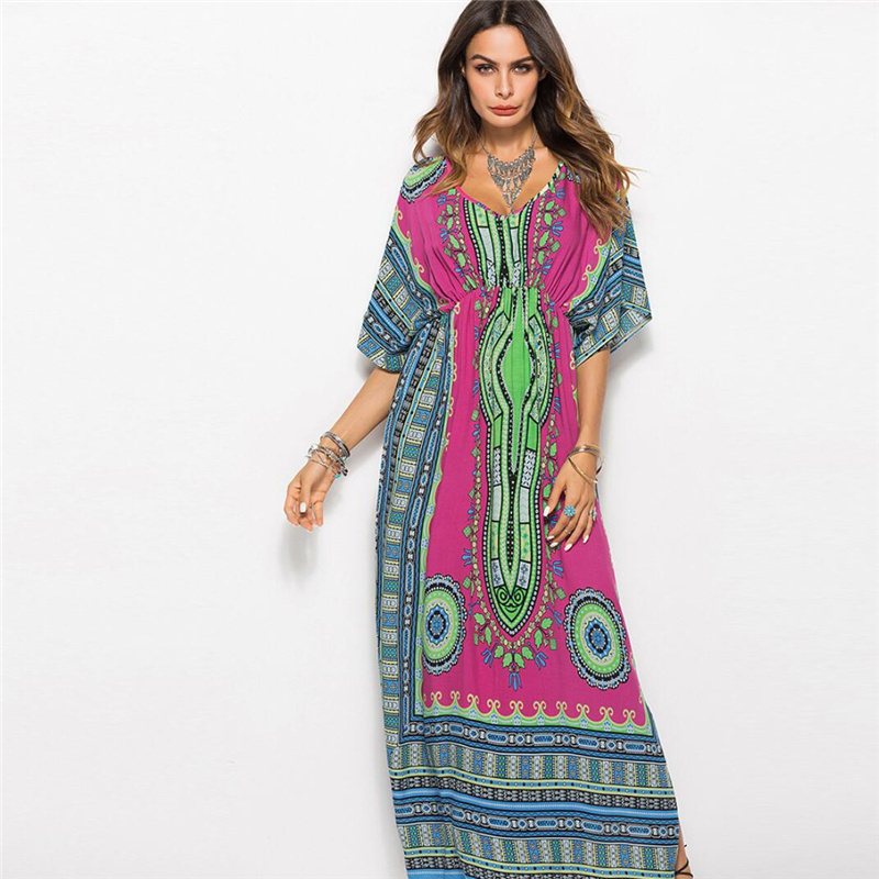 Oversize Pareo Kaftan Beach Tunic Dress Women Summer Swimsuit Cover Up Large Size Strand Tunica Robe De Plage Sarong Caftan A59