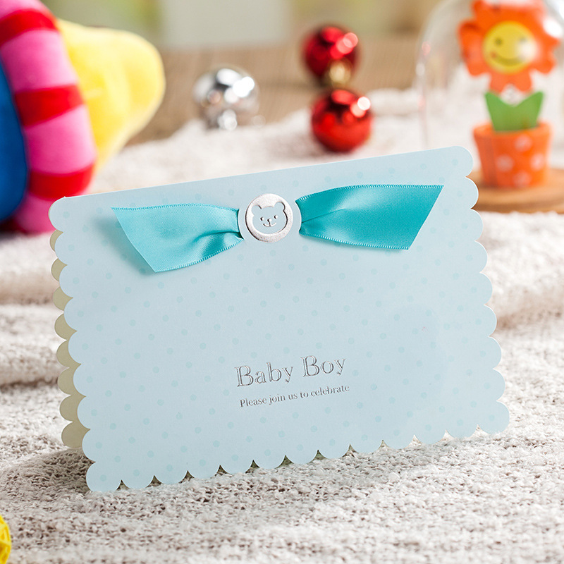 aliexpress : buy 50x blue/pink laser cut baby shower, Baby shower invitations