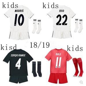 10fc02f46 2018 2019 Reals Madrided kids football shirt ronaldo jersey