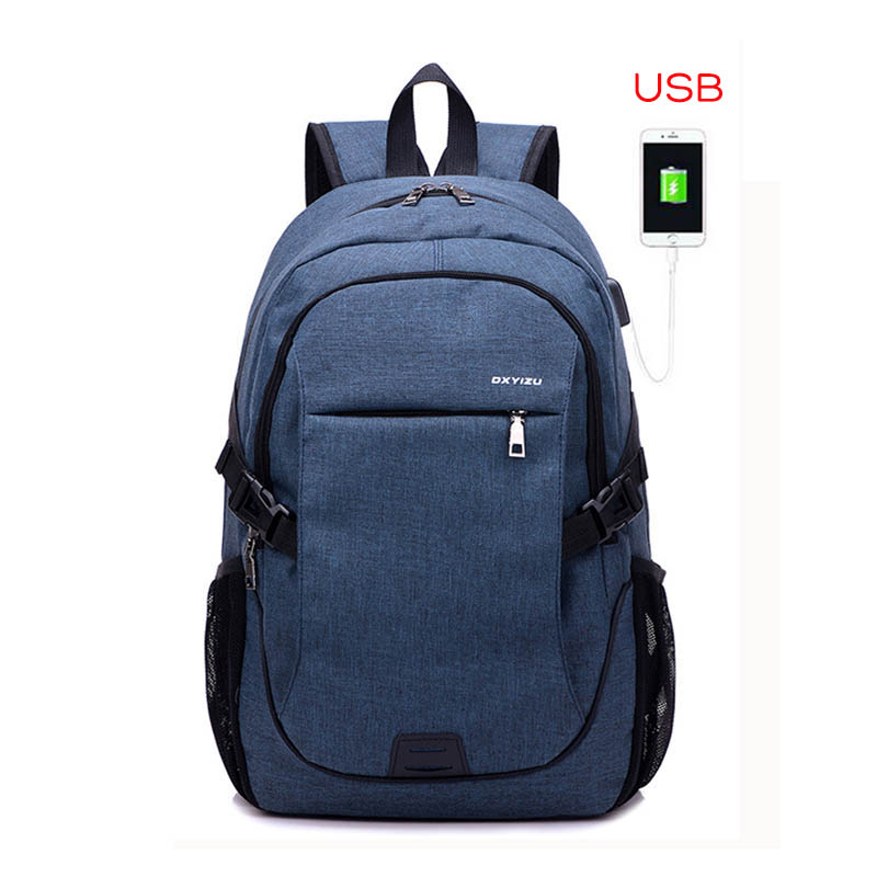 2017 Fashion Men Backpacks canvas Bags For Teenagers girls 15.6 Inch Laptop Bag Backpack USB Large Capacity casual Backpack 242 2017 augur new fashion men s vintage canvas backpack for teenage girls school bag women s travel large capacity backpacks bags