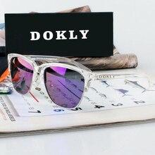 Dokly Real Mirror and Polaroized Sunglasses women polarized sunglasses Semi-Rimless Sun Glasses eyewear Oculos De Sol