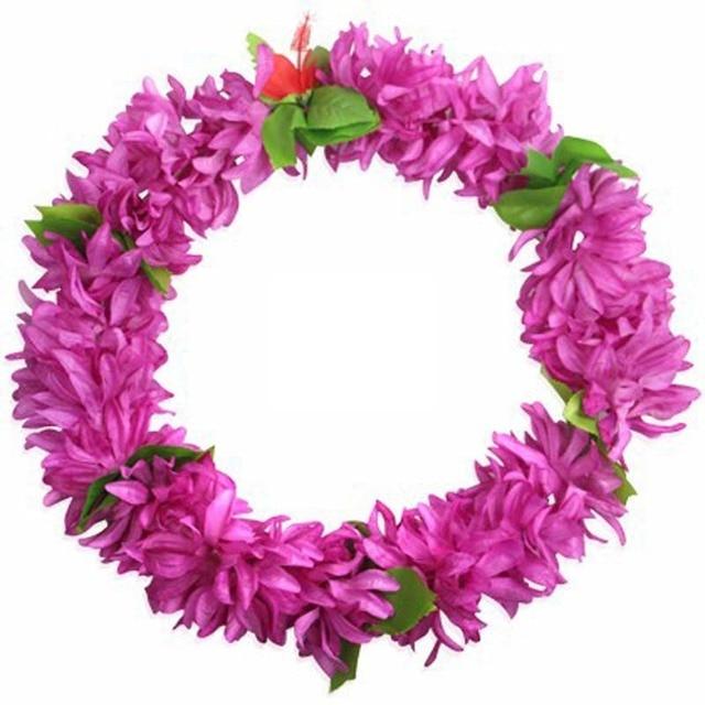 Flower Neck Lei Fancy Dress Necklace Hula Garland For Hawaiian Luau ...