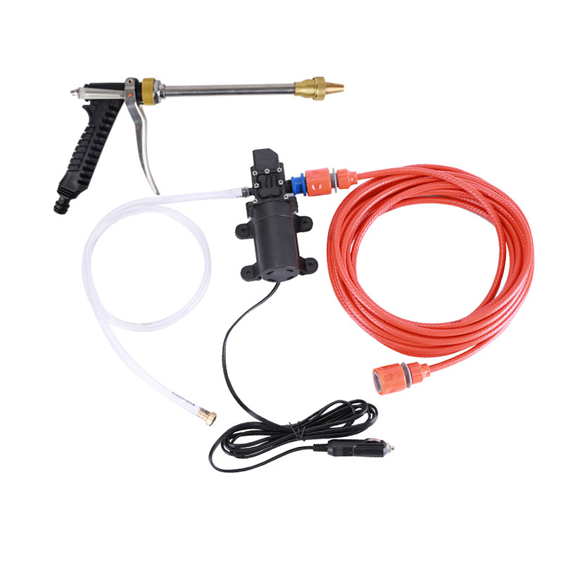 New 60W Dc 12V Car High Pressure Spray Car Washer High Pressure Portable Car Wash Pump Set Tool Kit