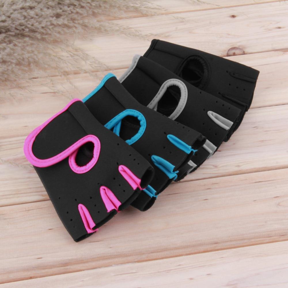 Men Women 1pair Sports Gloves Fitness Exercise Train-ing Gym Gloves Half Finger Weightlifting Gloves Multifunction