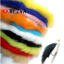 KKWEZVA 10 M Rabbit Fur Hare Zonker Color for Fly Tying Material Streamer Fishing Flies 5mm Wide fly fishing lure Insect squid цена и фото