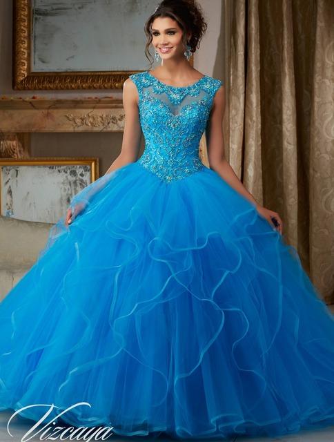 Vestido 15 años azul vestidos quinceanera jewerly bola vestido de tule baratos vestidos quinceanera 2017 sweet 16 vestidos de debutante vestidos