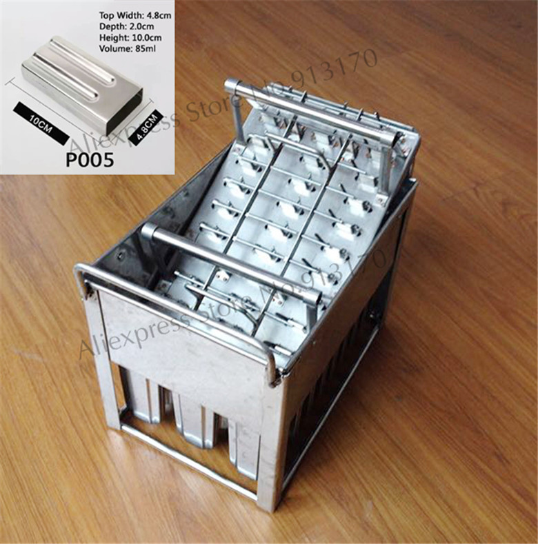 30pcs/Batch Stainless Steel Ice Pop Mould Popsicle Maker Freezer Use with Stick Holder