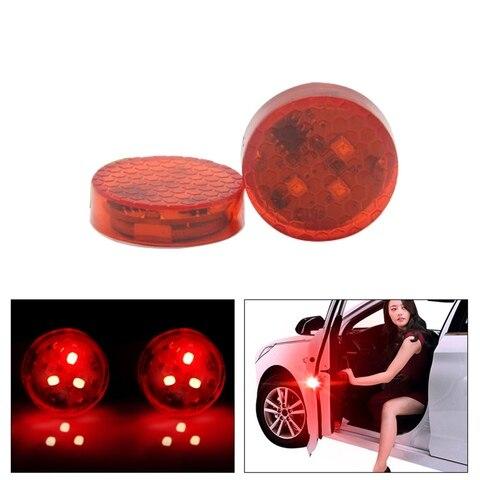2 pcs luzes porta do carro luz de advertencia de 3 5 led vermelho lampada