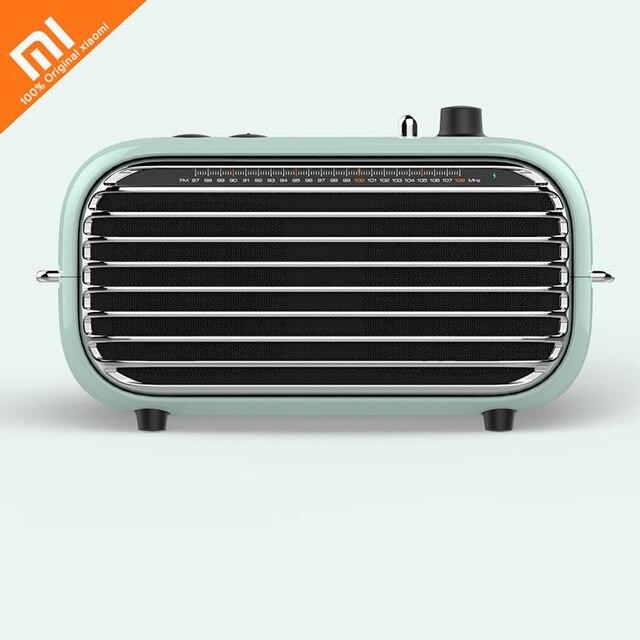 The Latest Xiaomi Mijia LOFREE Bluetooth Speaker Fashion Retro Lightweight Portable FM Radio Bluetooth Cable Dual Mode Smart 36