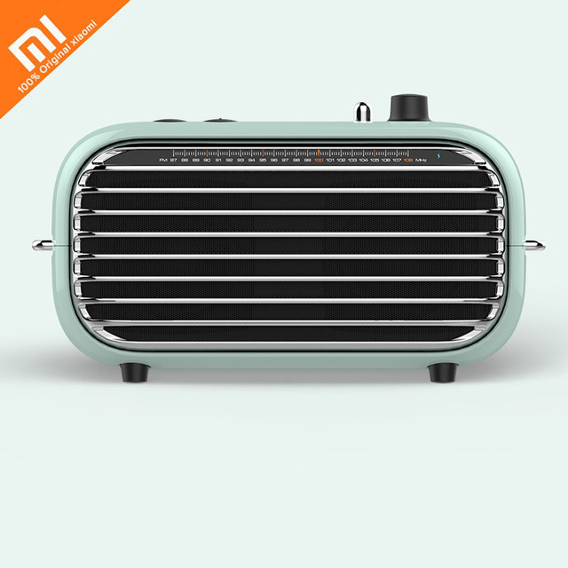 The Latest Xiaomi Mijia LOFREE Bluetooth Speaker Fashion Retro Lightweight Portable FM Radio Bluetooth Cable Dual Mode Smart 36