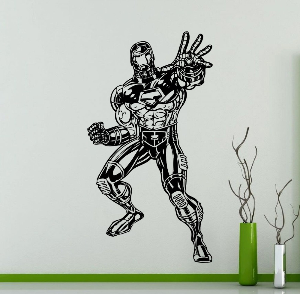 removable wallpaper walking dead man silhouette art wall stickers kids boys bedroom decor home rooms decor wall sticker w 630 in wall stickers from home