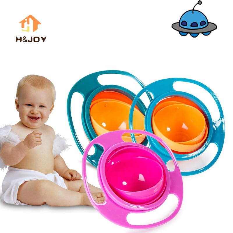 Child Universal Gyro Bowl Children Rotary Balance Bowl Cute Baby Feeding Dish 360 Rotate Spill-Proof Bowl Kids Anti Messing Bowl