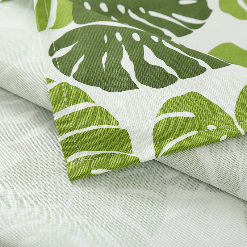 Leaf shaped canvas tablecloth Household modern decorative tablecloth Dirt resistant skid proof and waterproof tablecloth in Tablecloths from Home Garden