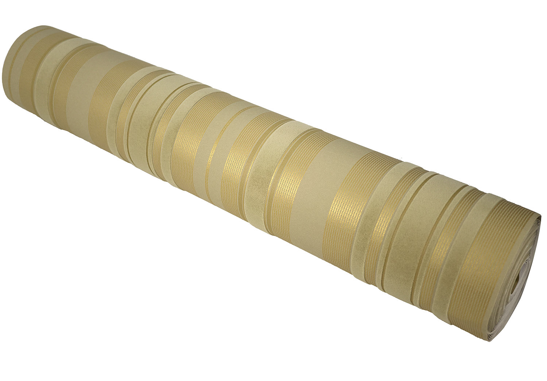 Luxe Champagne Or Beige Velours Flocage Rayures Verticales Papier Peint Revêtement Mural