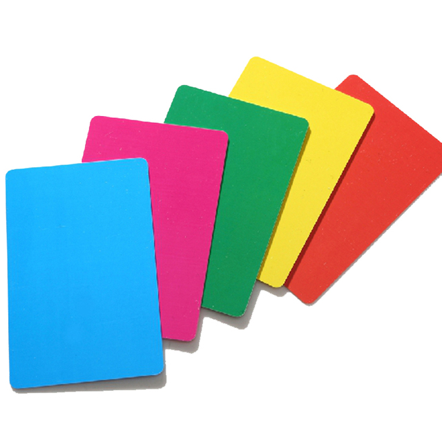 1050100200pcs blank plastic cards 5 colors plastic playing cards - Blank Plastic Cards