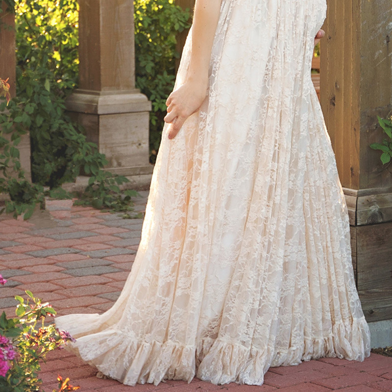 0e370bef1b4eb US $7.7 30% OFF|New White Pink Maternity Dress Pregnancy Photo Props Shoot  Pregnant Women Lady Elegant Vestidos Lace Party Formal Evening Dress-in ...