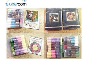 Image 4 - Kit crochet de coussin damour chiens, broderie de fleurs artisanales, point de croix, 42CM, 42CM