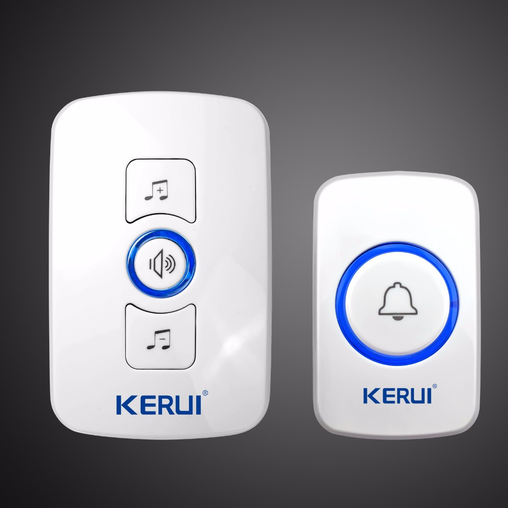 Kerui Wireless Doorbell System 32 Songs Optional Doorbell Transmitter Chime Welcome Security Alarm System Build-in Antenna