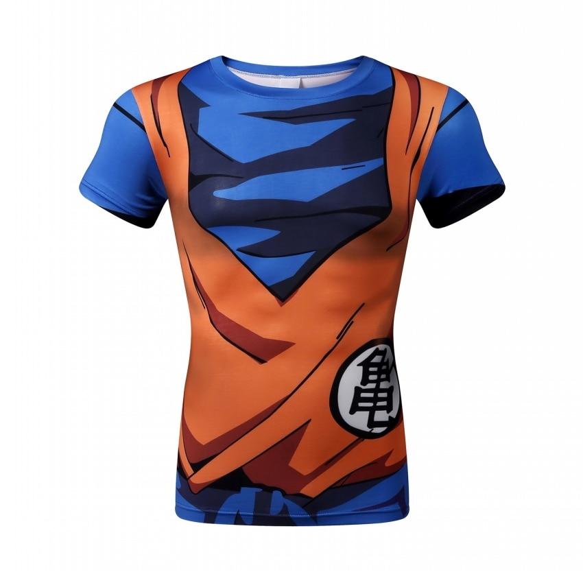 Dragon Ball compression shirt men Brand bodybuilding compressed short sleeve t shirt tights men tshirt homme