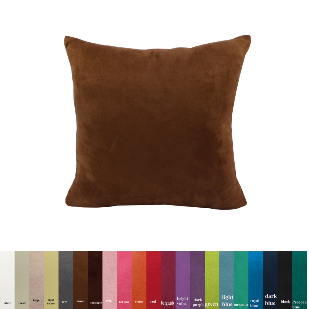 Suede fabric sofa cushion cover 30x50/40x40/45x45/40x60/<font><b>50x50</b></font>/55x55/60x60cm size decorative throw <font><b>pillow</b></font> cover <font><b>case</b></font> image