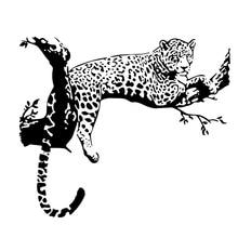 Новое поступление черный цвет дикий большой леопард животное стикер на стену Наклейка на стену с изображением тигра художественная роспись домашний Декор