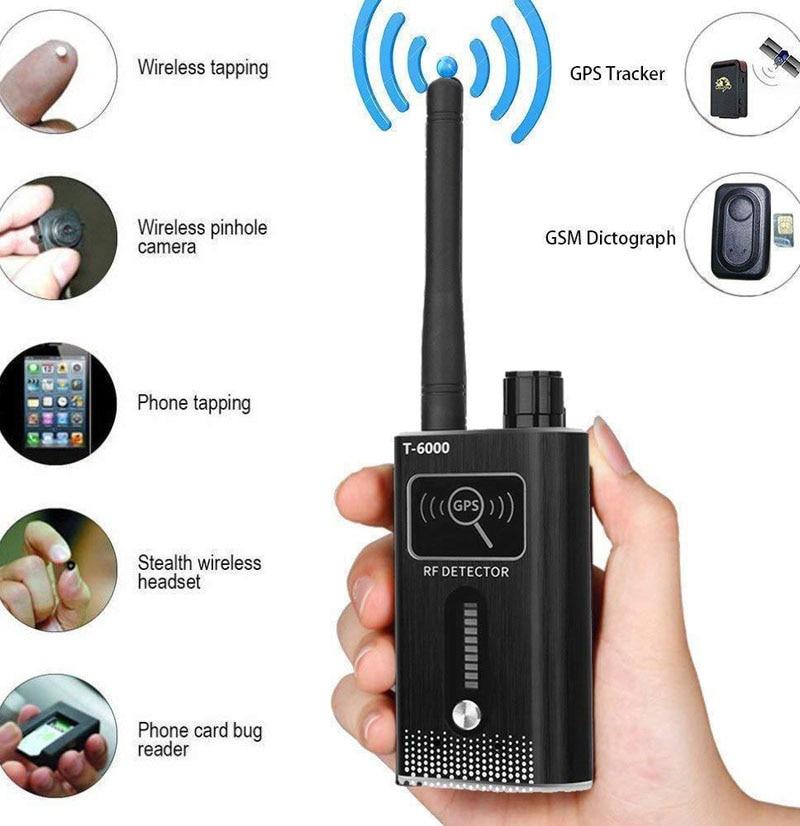 New GPS Signal Lens RF Tracker WIFI GSM Bug Detector T-6000 2G 3G 4G Bug Detector Signal Detector