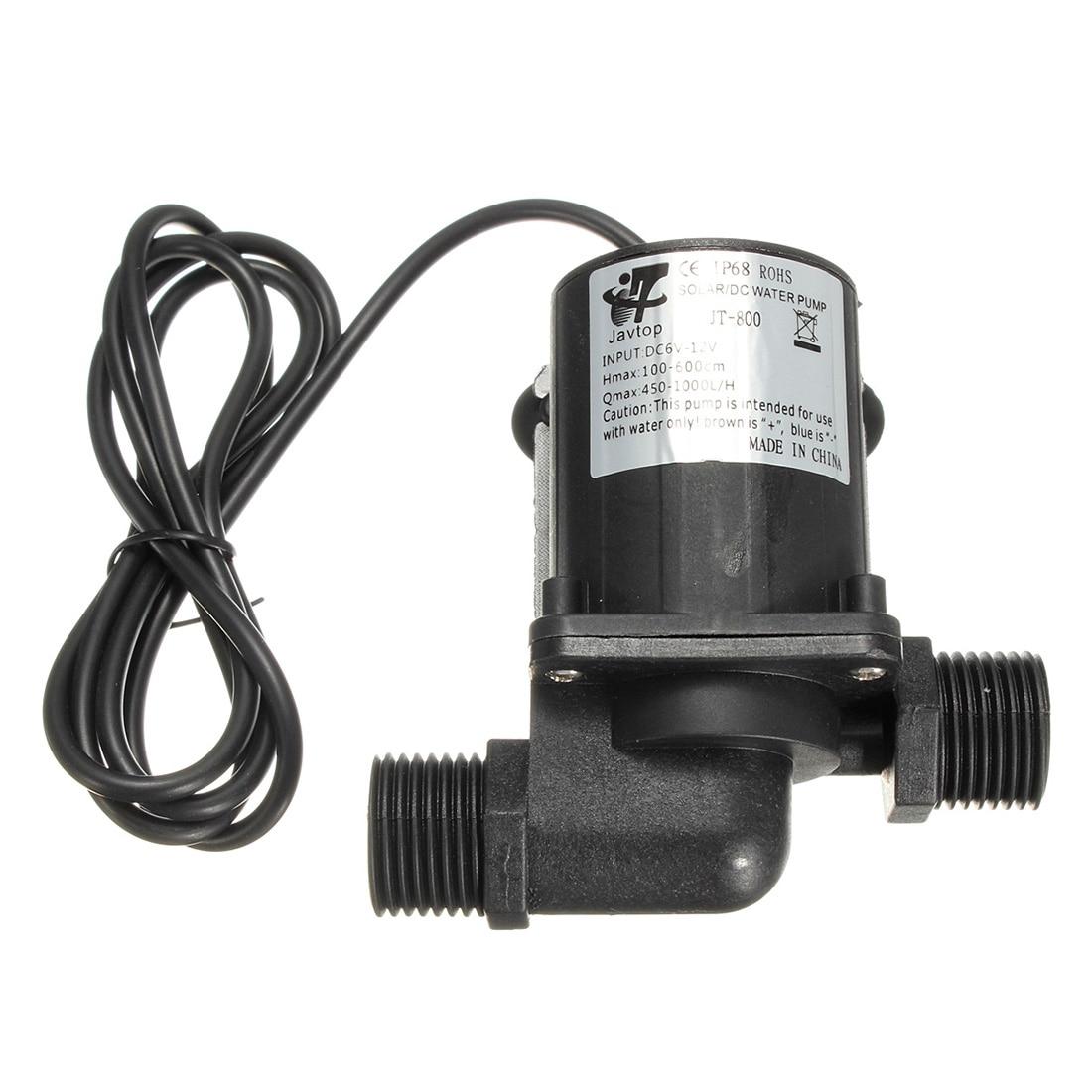 Abkm Heißer Dc 12 V Elektrische/solar Bürstenlosen Motor Wasserpumpe Aquarium Brunnen 1000l/h Schwarz