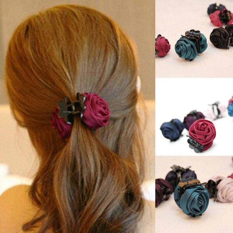 Fashion Korean Brand Hair Clip Rose Hair Claws Clips Hair Acces For Women Girls Hair Crab Clamp Hairpin Headwear