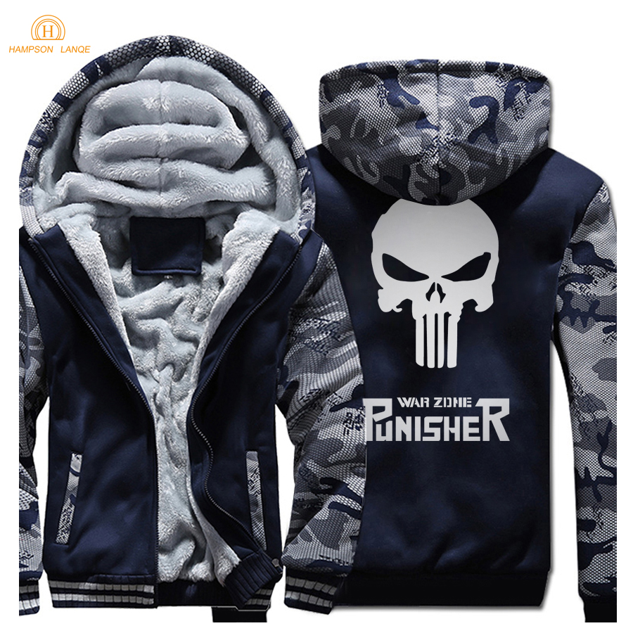Skull Hip Hop Men 39 s Hoodies 2019 New Winter Thick Jackets Sweatshirts Fashion Men Coat Brand Hooded Mens Tracksuit in Hoodies amp Sweatshirts from Men 39 s Clothing